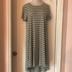 Lularoe Carly Dress....Green stripe.